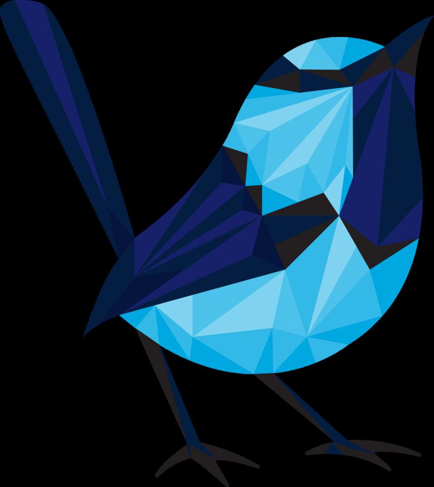 Blue Wren's polywren logo