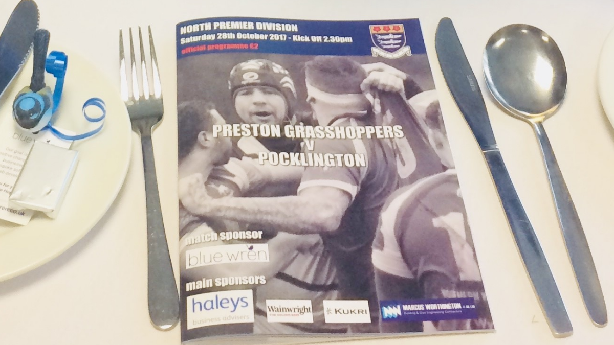 Blue Wren sponsor the Preston Grasshoppers vs Pocklington match