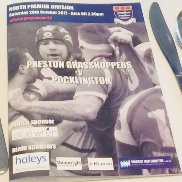 Blue Wren sponsor the Preston Grasshoppers vs Pocklington match
