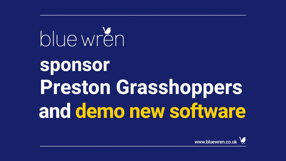 Blue Wren sponsor Preston Grasshoppers and demo new software
