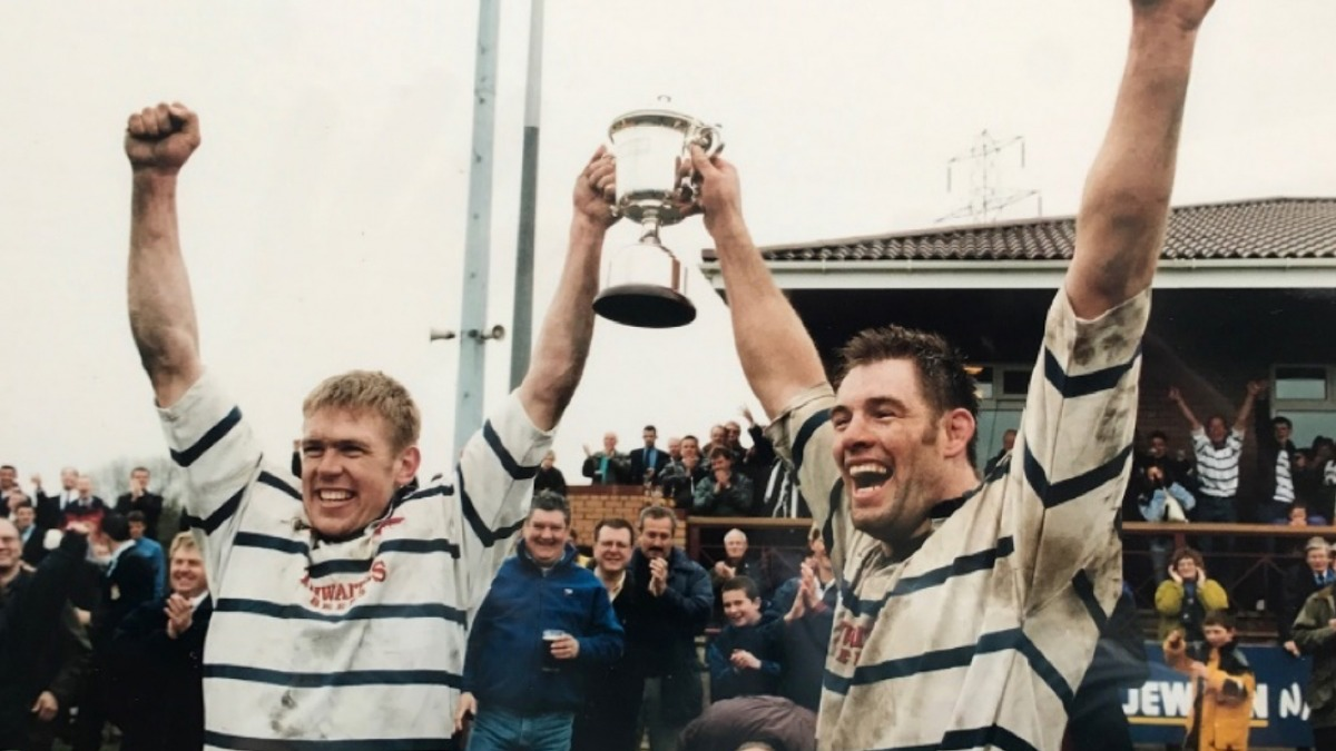 Michael Lough (vice-captain) with Neil Ashton (captain) winning the league in 1998/99