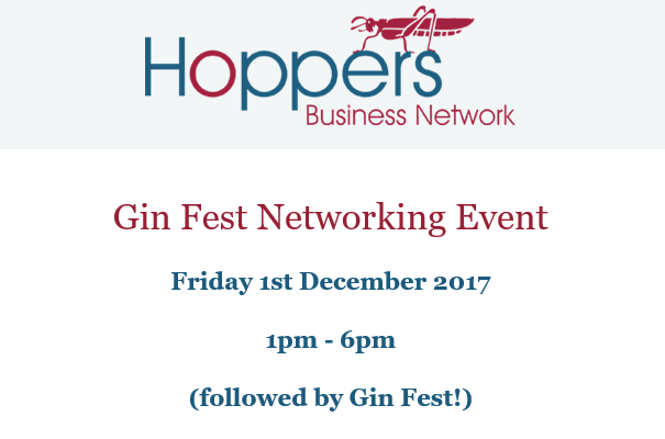 Get your Hoppers Business Network Gin Fest tickets