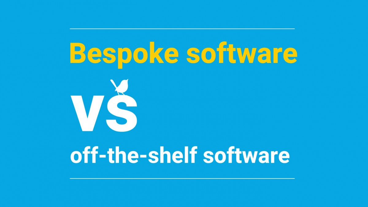 Bespoke software versus off-the-shelf software